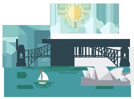Image of Sydney opera house and harbour bridge